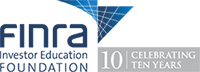 Logo-FINRA Foundation Celebrating 10 Years